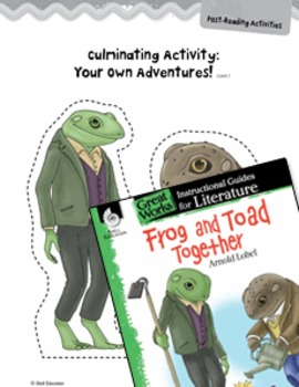 Frog and Toad Together Post-Reading Activities