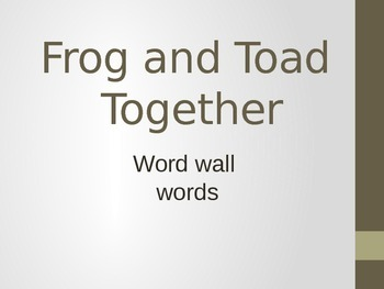 Frog and Toad Together PowerPoint