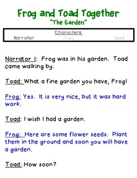 Frog and Toad Together Readers Theater