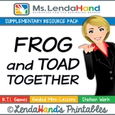 Reading Street, FROG AND TOAD TOGETHER, Teacher Pack by Ms. Lendahand:)