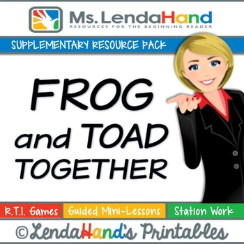 Reading Street, FROG AND TOAD TOGETHER, Teacher Pack by Ms