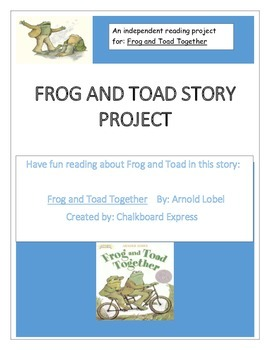 Frog and Toad Together Story Project Packet