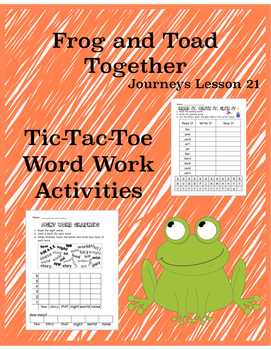 Frog and Toad Together: The Garden Journeys Lesson 21