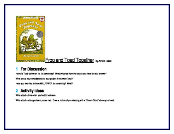 Frog and Toad Together for Guided Reading