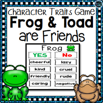 Frog and Toad are Friends Character Traits Game