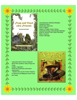 Frog and Toad are Friends - Fiction & Non-Fiction Comprehe