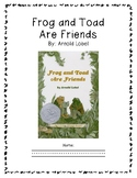 Reading Guide: Frog and Toad are Friends
