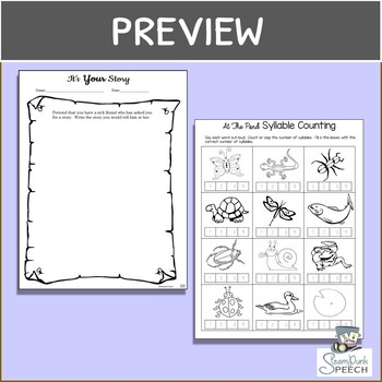 Frog and Toad in THE STORY (Mini-Lesson):  8 *NO PREP* B/W worksheets