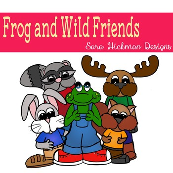 Frog and Wild Friends Clipart