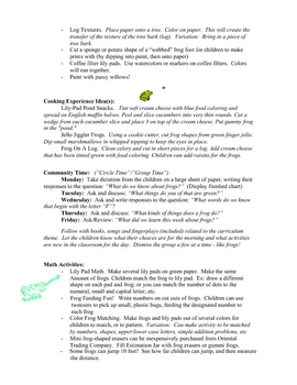Frog curriculum unit