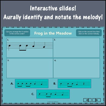 Frog in the Meadow: Orff, Recorder, Form, Melody and Instruments