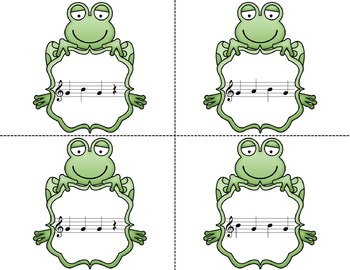 Frog in the Meadow Recorder Manipulative Printables {BAG}