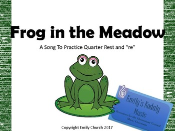 Frog in the Meadow Teacher Pack