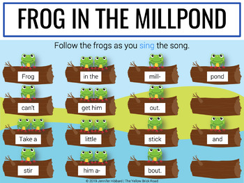 Frog in the Millpond: a song and game for teaching quarter rest