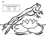 Frog in the Pond: Color by Number Addition & Subtraction
