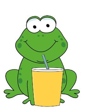 Verb + ing Frog is drinking... Sentence Frames