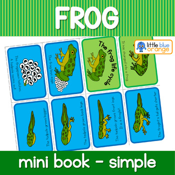 Frog life cycle mini book (simplified version)