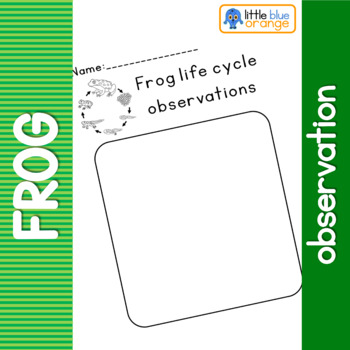 Frog life cycle observation sheet