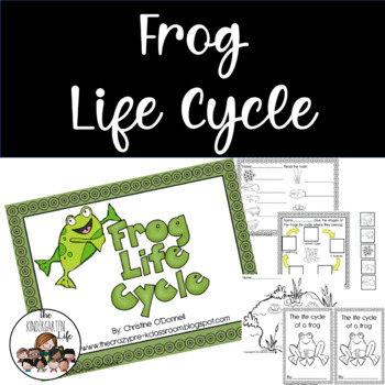 Frog life cycle: teacher book, minibook, anchor chart, craftivity