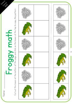Frog math worksheets