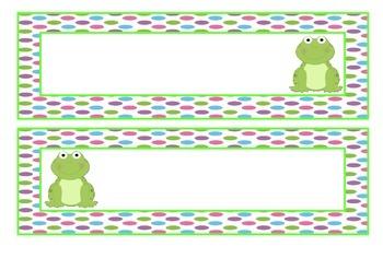 Frog name labels