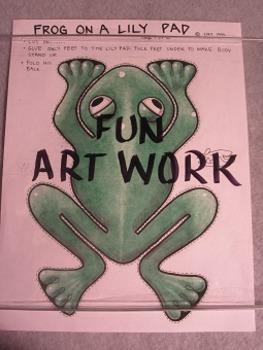 Frog on a Lilypad. Fun 3D Craft Art