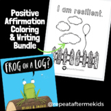Frog on a Log - Affirmation Coloring Page and Activity Bundle
