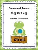 Frog on a Log - Consonant Blends