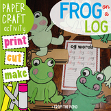 og Word Family Craft - Frog on a Log Craftivity - Word Families