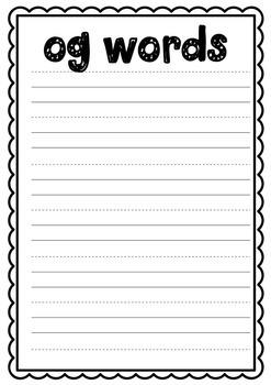 og Word Family Craft - Frog on a Log Craftivity - Word Families