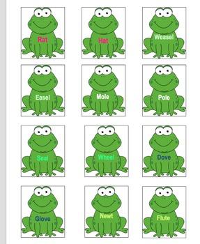 Frog on a Log Memory Game