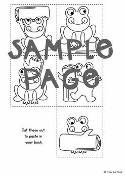 Frog on a Log Printable Reader - Print Cut Make and READ