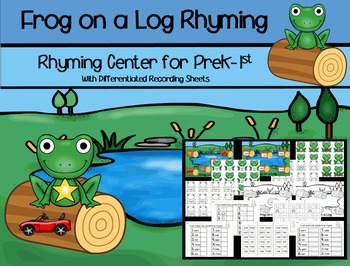 Frog on a Log Rhyming Center