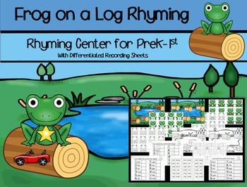 Frog on a Log Rhyming Center
