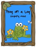 Frog on a Log Rhyming Words