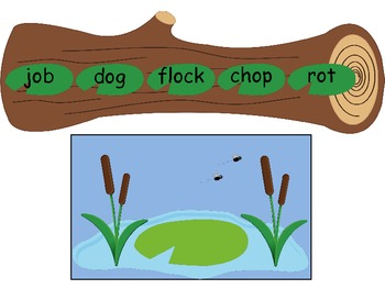 """Frog on a Log - Short """"o"""" Word Game"""