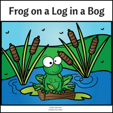 Frog on a Log in a Bog - Color, Trace and Read
