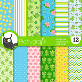 Frog princess and prince papers, commercial use, scrapbook papers - PS860