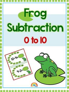 Frog subtraction 1 to 10 / numbers / number line / Subtraction games