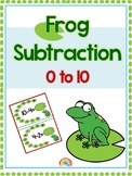 Frog subtraction 0 to 10 / numbers / number line / Subtrac
