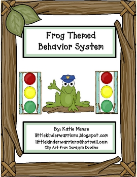 Frog theme stoplight behavior management system