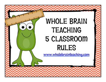 Frog themed Whole Brain Teaching Class Rules