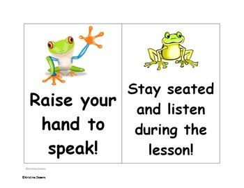 Frog-themed classroom!