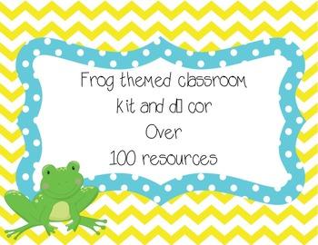 Frog themed classroom kit and decor (FREEBIE)