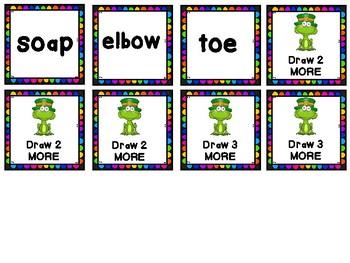 St. Patrick's Literacy Station- Frogerchaun- A Leprechaun Vowel review Game