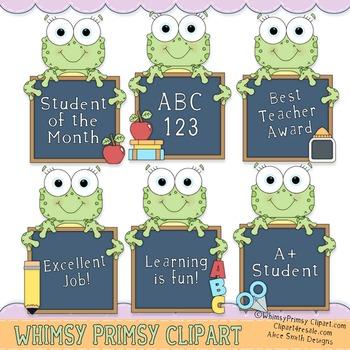 Frogger Chalkboard - Wordart