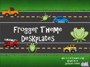 Frogger Desk Name Plates