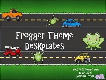 Frogger Desk Nameplates - Editable