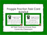 Fraction Task Card Bundle {64 Cards - Frog Theme}