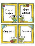 Froggie Labels for your Classroom Supplies